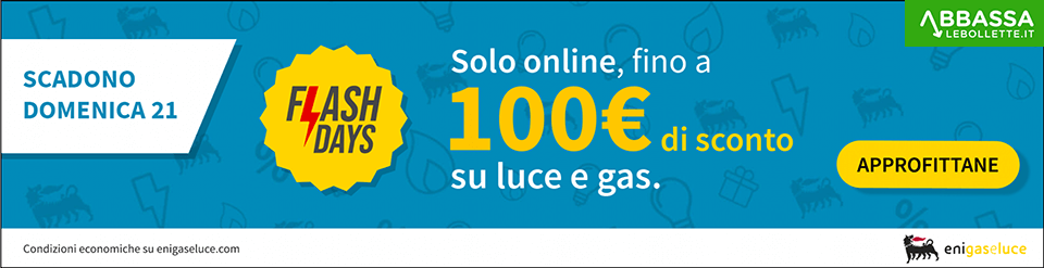 Flash Days ENI Gas e Luce: fino a 100€ di sconto attivando Eni Link Plus