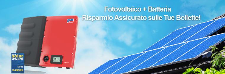 Finalmente i vecchi fotovoltaici possono montare l'accumulatore!