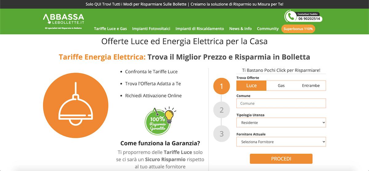 Comparatore Offerte Luce: Come Risparmiare sulla Bolletta della Luce cambiando fornitore