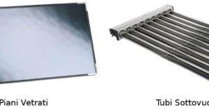 Pannelli piani vetrati e tubi sottovuoto heat pipe