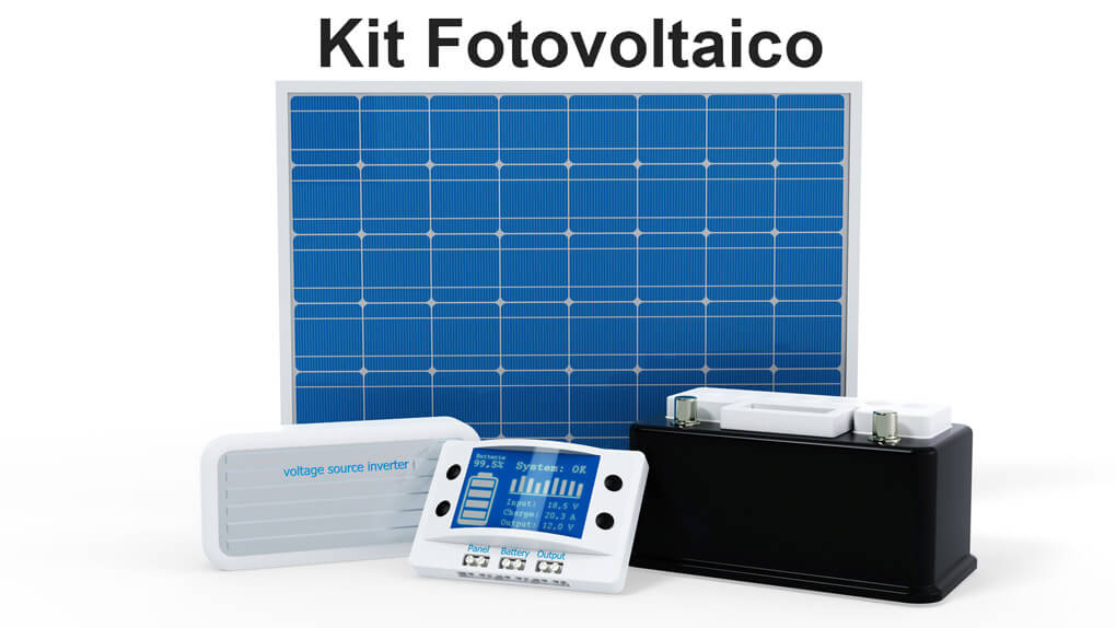 Kit Fotovoltaico con Inverter e Accumulo