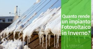 Quanto rende un impianto fotovoltaico in inverno