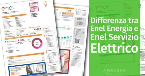 Differenza Tra Enel Energia E Servizio Elettrico Nazionale
