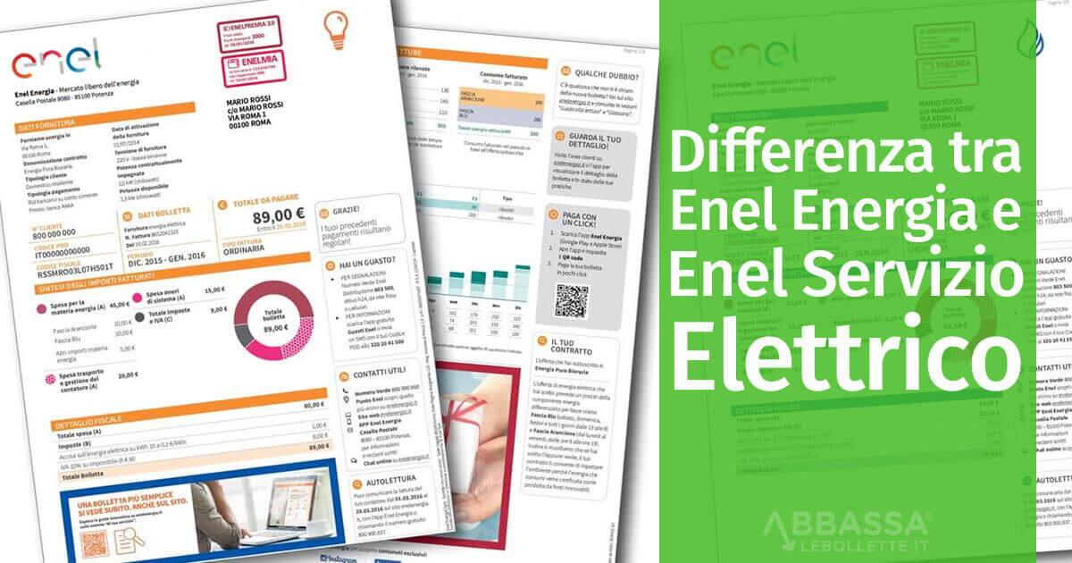 Che differenza c'è tra Enel Energia e Servizio Elettrico Nazionale?