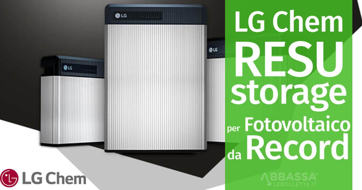 LG Chem RESU: Storage per Fotovoltaico da Record