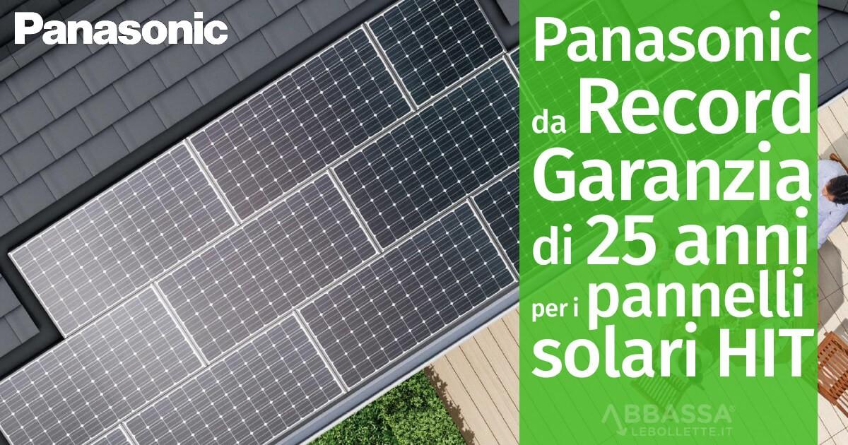 Panasonic da Record: garanzia di 25 anni per i pannelli solari HIT