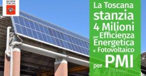 La Toscana stanzia 4 Milioni per Efficienza Energetica e Fotovoltaico per PMI