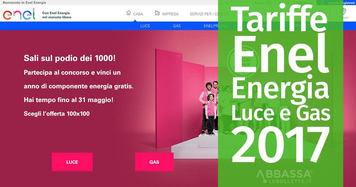 Tariffe Enel Energia Luce e Gas 2017