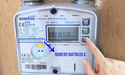 Autolettura nuovo contatore Gas Metano