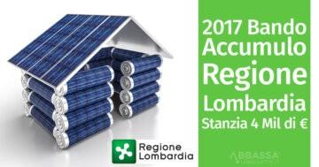 Bando Accumulo 2017 Regione Lombardia: Stanziati 4 milioni di euro