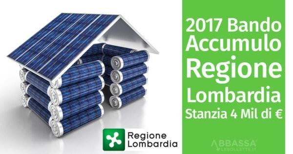 Bando Accumulo 2017: la Lombardia Stanzia 4 mln