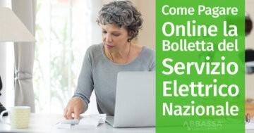 Come Pagare Online la Bolletta del Servizio Elettrico Nazionale