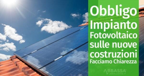 Schema Quadro Elettrico Per Fotovoltaico : Obbligo impianto fotovoltaico sulle nuove costruzioni facciamo