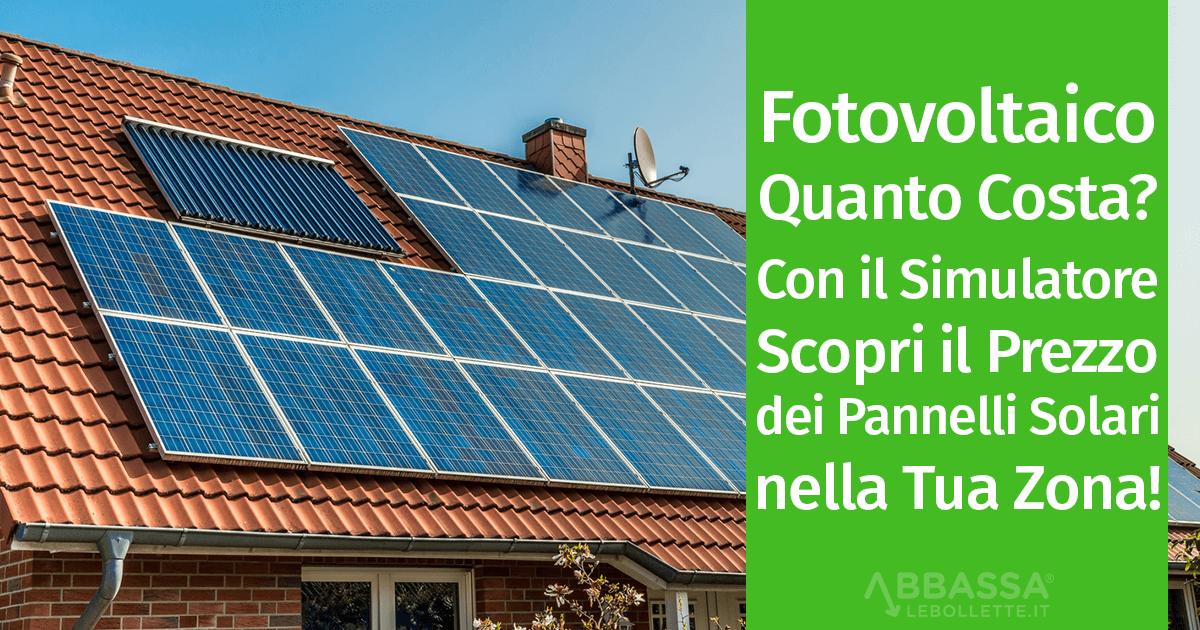 Costo Impianto Fotovoltaico 3 - 6 Kw: Richiedi Preventivo per i pannelli solari