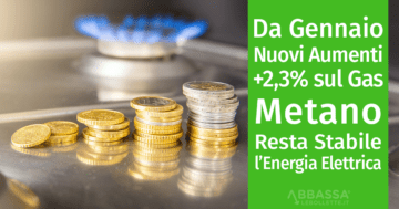 Da gennaio 2019, nuovi aumenti sulle bollette del Gas Metano