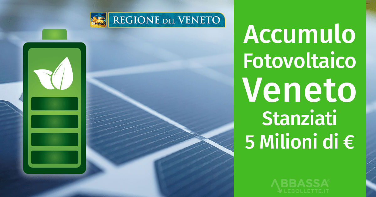 Bando Accumulo Fotovoltaico Veneto: Stanziati 5 Milioni di Euro
