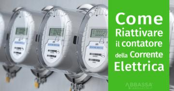 Come riattivare il contatore della Corrente Elettrica Enel