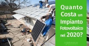 Quanto costa un impianto fotovoltaico nel 2020?