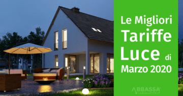 Le migliori tariffe luce di marzo 2020