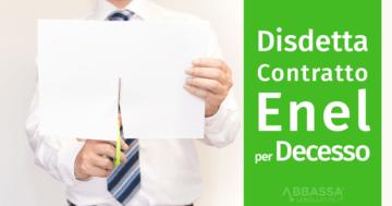 disdetta contratto energia decesso intestatario