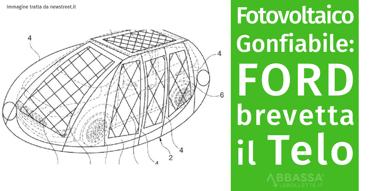Fotovoltaico Gonfiabile: Ford brevetta il telo Solare
