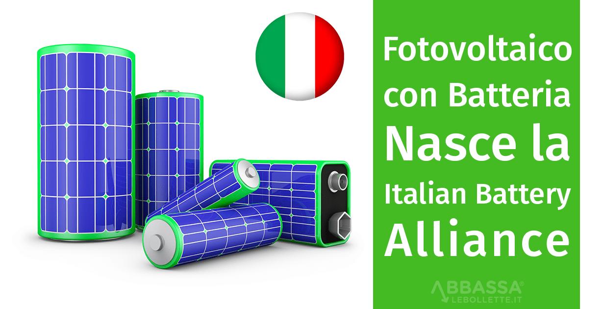 Fotovoltaico con Batteria: Nasce la Italian Battery Alliance