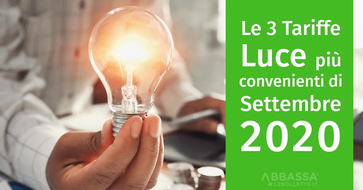 Le 3 Tariffe Luce più convenienti di Settembre 2020