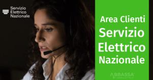 area clienti servizio elettrico nazionale