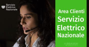 Area clienti e numero verde servizio elettrico nazionale