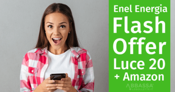Enel Energia Flash Offer Web: offerta Luce 20 + Amazon