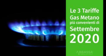 Le 3 Tariffe Gas Metano più Convenienti di Settembre 2020