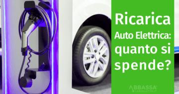 Costo Ricarica Auto Elettrica