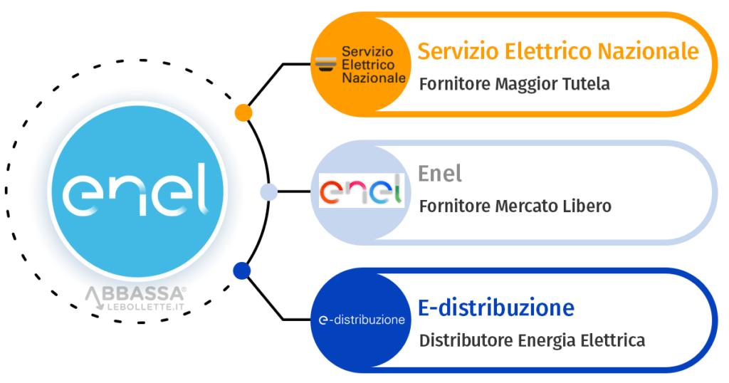 Infografica Enel Energia e Servizio Elettrico Nazionale Differenze