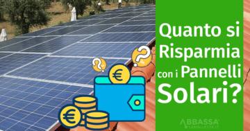 Quanto si Risparmia con i Pannelli Solari?