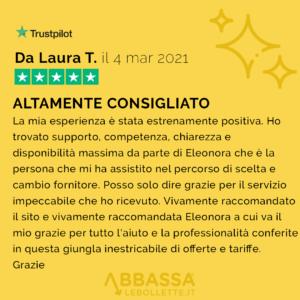 Recensione di Laura: Altamente Consigliato| Abbassalebollette.it