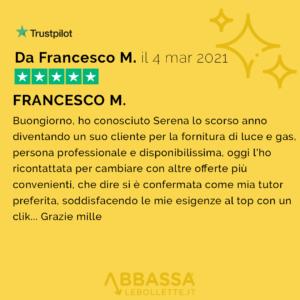 Recensione di Francesco | Abbassalebollette.it