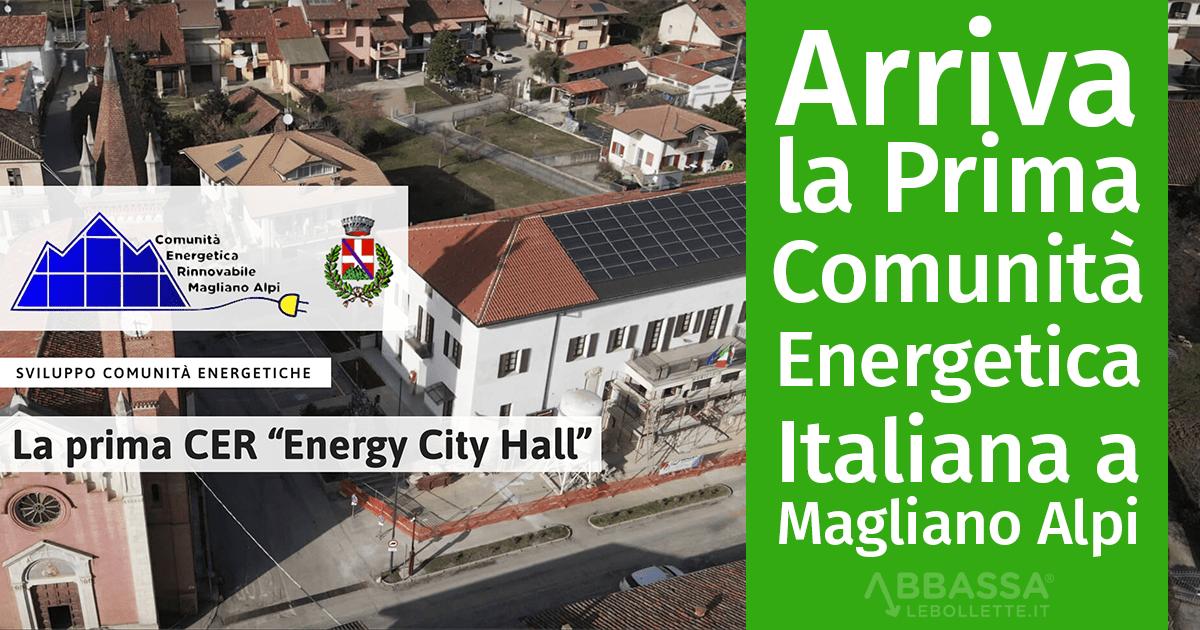 Arriva la Prima Comunità Energetica Italiana a Magliano Alpi