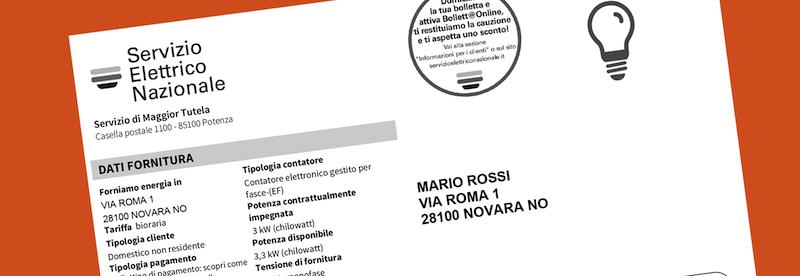 Bolletta Bolletta Servizio Elettrico Nazionale