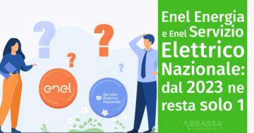Enel Energia e Enel Servizio Elettrico Nazionale: dal 2023 ne resta solo 1